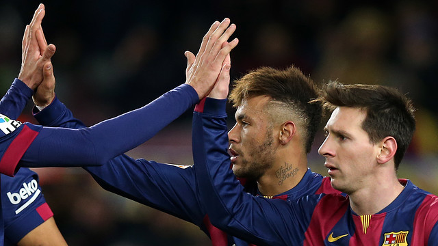 Neymar and Messi are both scoring freely. PHOTO: MIGUEL RUIZ-FCB.