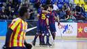 The Barça players celebrating the fifth goal / PHOTO: GERMAN PARGA - FCB