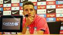 Jordi Alba en roda de premsa a la Ciutat Esportiva / FOTO: MIGUEL RUIZ - FCB