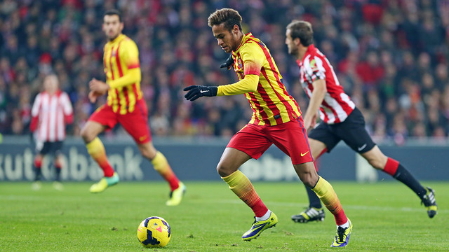 Neymar will be looking to score for the first time at San Mamés / PHOTO: MIGUEL RUIZ - FCB