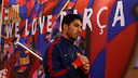 Ready to go: Luis Suárez helped Barça to an important win at the Camp Nou / MIGUEL RUIZ - FCB