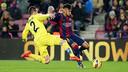 Neymar controls the ball in last week's league match between Barça and Villarreal / MIGUEL RUIZ - FCB