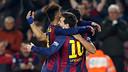 Les joueurs après le but de Messi / MIGUEL RUIZ-FCB
