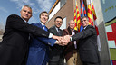 Bordas, Braida, Bartomeu, Rexach and Mestre on Thursday morning / MIGUEL RUIZ - FCB