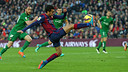 Passe décisive de Pedro contre Levante/ MIGUEL RUIZ-FCB