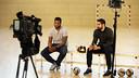 Cédric Sorhaindo et Nikola Karabatic pendant l'interview / Miguel Ruiz FCB