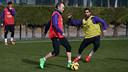 Andrés Iniesta pendant la séance / MIGUEL RUIZ - FCB