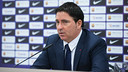 Pascual, during his press conference. G. PARGA - FCB