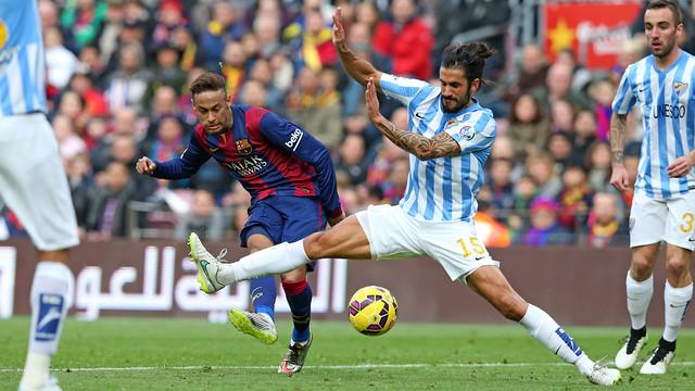 Neymar i Angeleri, al Camp Nou / MIGUEL RUIZ-FCB.