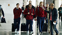 The FC Barcelona squad departed for England on Tuesday morning / MIGUEL RUIZ-FCB