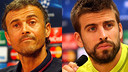 Luis Enrique i Gerard Piqué compareixeran en roda de premsa / FOTOMUNTATGE FCB