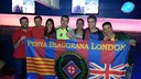 The Penya Blaugrana London at their floating headquarters / PENYA BLAUGRANA LONDON