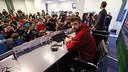 Gerard Piqué in the press room at the Etihad / MIGUEL RUIZ - FCB