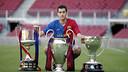 Sergio Busquets won La Liga, the Spanish Cup and the Champions League inl 2009 / FCB ARCHIVE