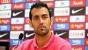 Sergio Busquets, en rueda de prensa / ARCHIVO FCB