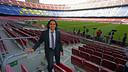 Juan Pablo Sorín, el mes de noviembre pasado, en el Camp Nou para comentar un partido de Liga de Campeones / MIGUEL RUIZ-FCB