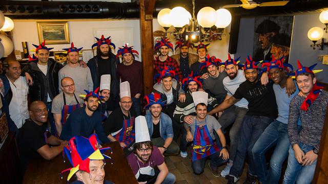 Cocineros y malabaristas del Barça de balonmano / FOTO:German Parga FCB