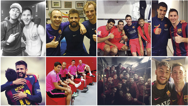 The players often post their photos on social networks / FCB