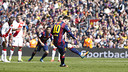 Leo Messi converted a penalty in the 6-1 win / FCB