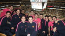 Barça B watched the Mavericks - Cavaliers game live/ MIGUEL TABLADO