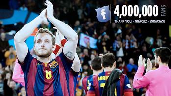 El Facebook del Barça de balonmano supera los 4 millones de Fans / FOTO:FCB