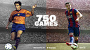 Xavi Hernández has reached 750 games played for FC Barcelona. / FCB Infographic