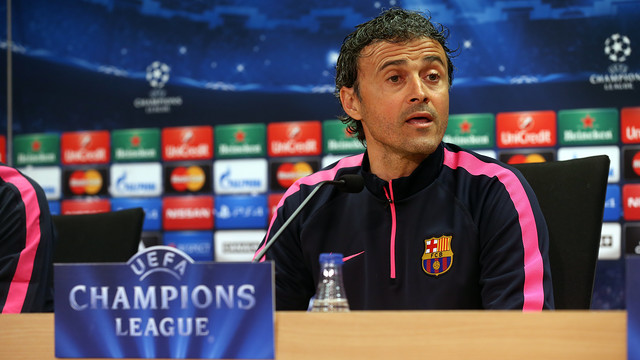 Luis Enrique was discussing Wednesday's UCL game with Man City / MIGUEL RUIZ - FCB