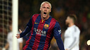 Mathieu headed home a Messi free kick to make it 1-0 / MIGUEL RUIZ-FCB