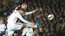 Mathieu va marcar el primer gol del partit / FOTO: VICTOR SALGADO