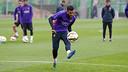 Alves trains earlier this season. / FCB ARCHIVE