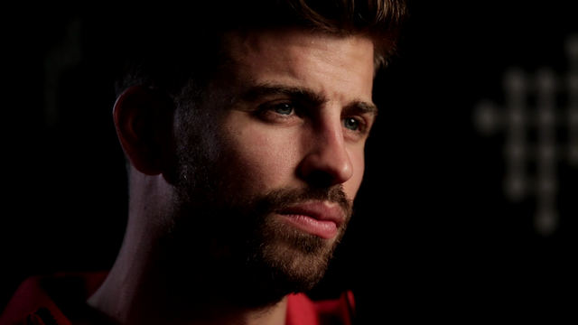 Piqué during the interview with UEFA