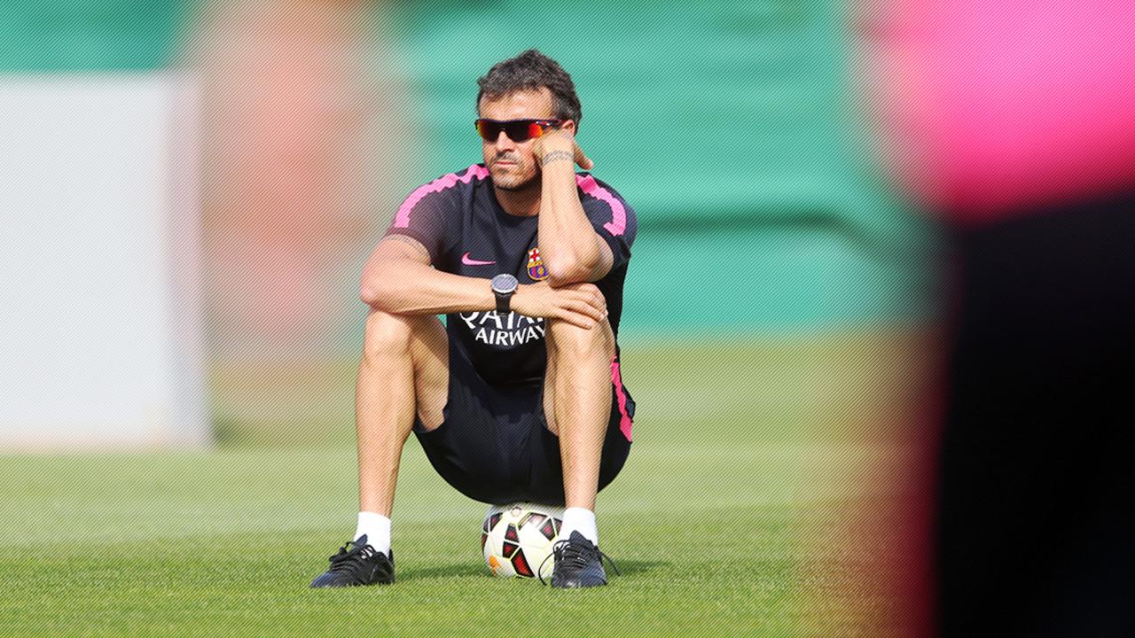 Luis Enrique, en un entrenament a la Ciutat Esportiva Joan Gamper / MIGUEL RUIZ - FCB