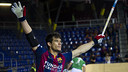 Pablo Álvarez scored five againbst Liceo / VÍCTOR SALGADO-FCB