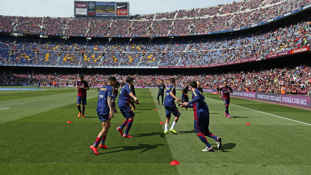 Los jugadores, antes del partido contra el Valencia / MIGUEL RUIZ - FCB