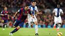 Luis Suárez and Fuentes during the game earlier in the season / MIGUEL RUIZ - FCB