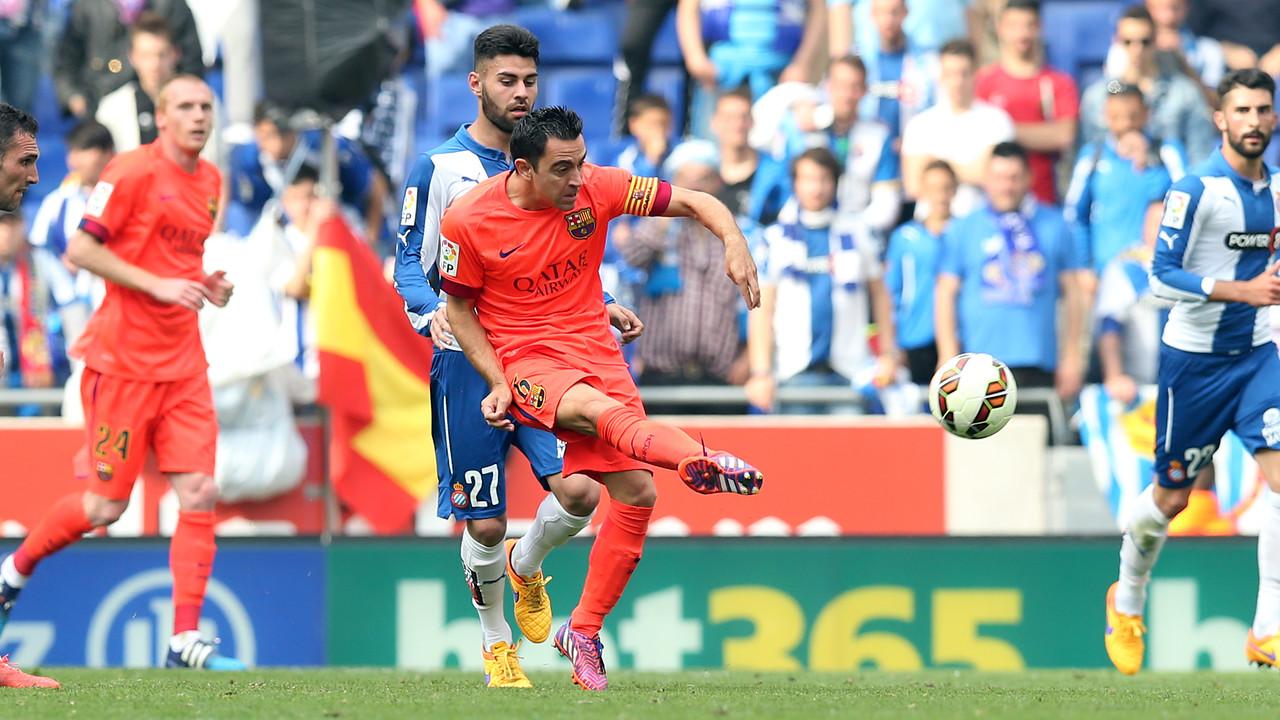 Xavi va arribar als 500 partits de Lliga / MIGUEL RUIZ - FCB