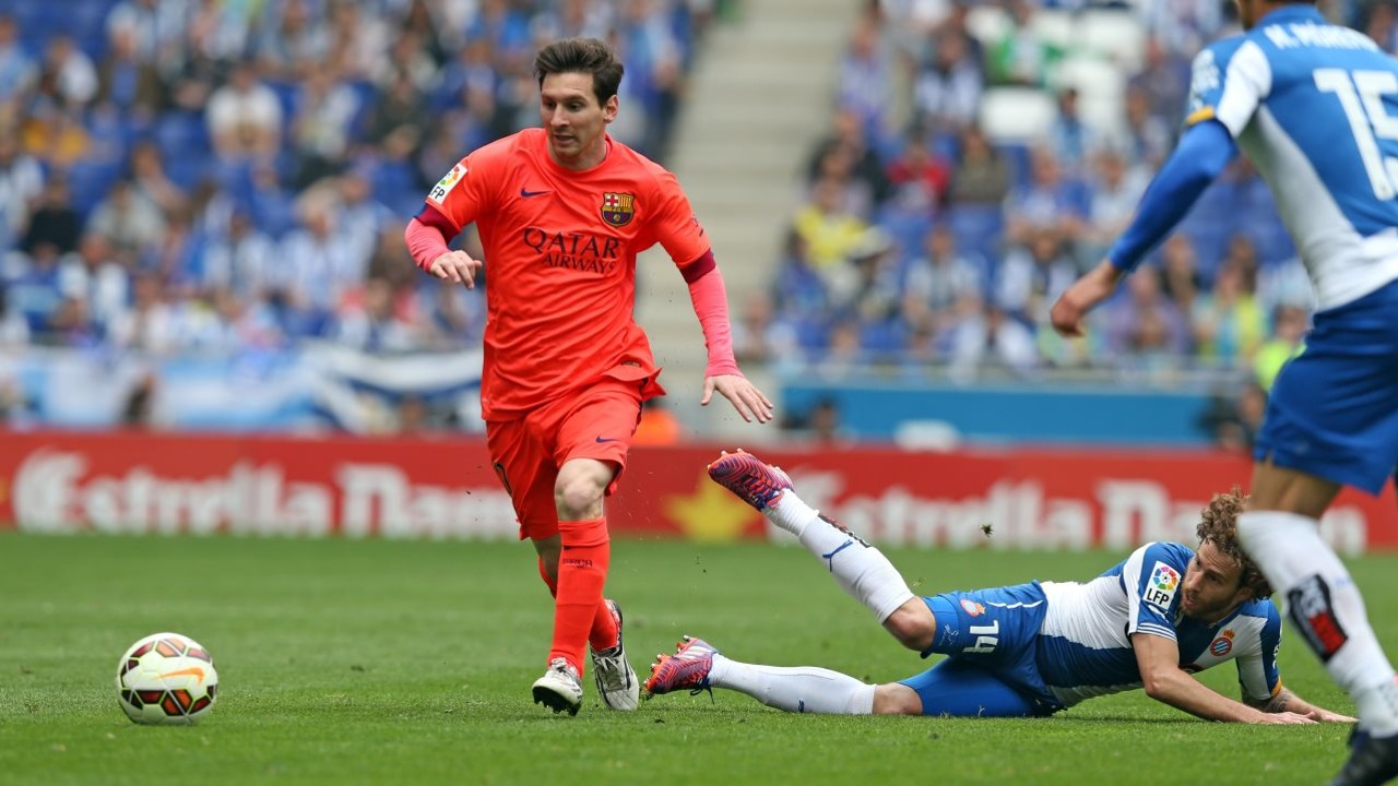 Lionel Messi is the all-time leading scorer in Barça–Espanyol derbies. / MIGUEL RUIZ - FCB