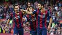 Xavi, Rafinha and Suárez in a stunning victory against Getafe / MIGUEL RUIZ-FCB