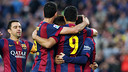 The players are in a jubilant moood after the game with Getafe / MIGUEL RUIZ - FCB