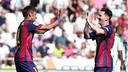Leo Messi i Neymar celebren un gol / MIGUEL RUIZ - FCB