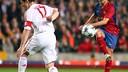 Xavi Hernández face au Bayern Munich au Camp Nou / MIGUEL RUIZ - FCB