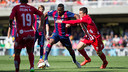 Adama in action against Girona / GERMÁN PARGA - FCB