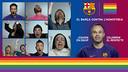 Imatge gràfica de la iniciativa 'El Barça contra l'homofòbia'.