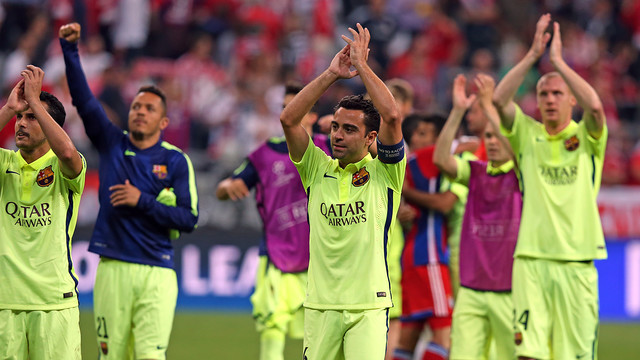 Xavi and co are on their way to the Champions League Final / MIGUEL RUIZ - FCB