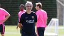 Jordi Vinyals, en el entrenamiento previo antes viajar a Miranda de Ebro / MIGUEL RUIZ-FCB