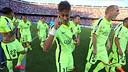Neymar celebrating the title at the Calderón / MIGUEL RUIZ - FCB