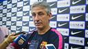 Jordi Vinyals, optimista antes del partido contra el Real Valladolid / FCB-VICTOR SALGADO