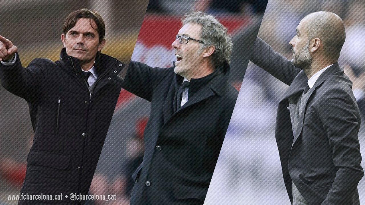 Cocu, Blanc and Guardiola have won their countries' league title