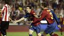 Leo Messi vgot the second against Athletic at Mestalla / MIGUEL RUIZ - FCB