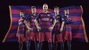 La primera equipación del FC Barcelona de la temporada 2015/16